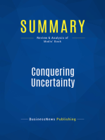 Conquering Uncertainty (Review and Analysis of Modis' Book)