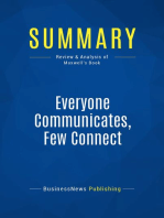 Everyone Communicates, Few Connect (Review and Analysis of Maxwell's Book)
