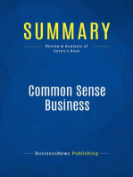 Common Sense Business (Review and Analysis of Gottry's Book)