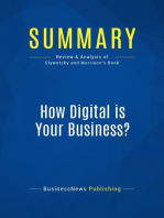 How Digital is Your Business? (Review and Analysis of Slywotzky and Morrison's Book)