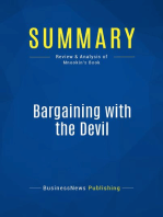 Bargaining with the Devil (Review and Analysis of Mnookin's Book)