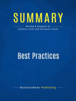 Best Practices (Review and Analysis of Hiebeler, Kelly and Ketteman's Book)