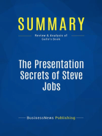 The Presentation Secrets of Steve Jobs (Review and Analysis of Gallo's Book)