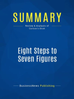 Eight Steps to Seven Figures (Review and Analysis of Carlson's Book)