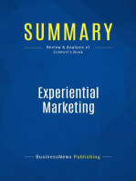 Experiential Marketing (Review and Analysis of Schmitt's Book)