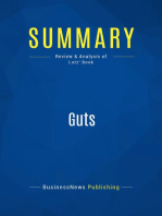 Guts (Review and Analysis of Lutz' Book)