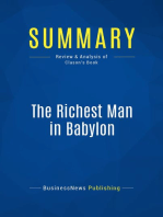 The Richest Man in Babylon (Review and Analysis of Clason's Book)