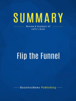 Flip the Funnel (Review and Analysis of Jaffe's Book)