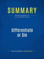 Differentiate or Die (Review and Analysis of Trout and Rivkin's Book)