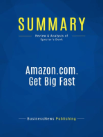 Amazon.com. Get Big Fast (Review and Analysis of Spector's Book)