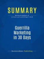 Guerrilla Marketing in 30 Days (Review and Analysis of Levinson and Lautenslager's Book)