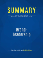Brand-Leadership (Review and Analysis of Aaker and Joachimsthaler's Book)