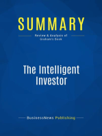 The Intelligent Investor (Review and Analysis of Graham's Book)