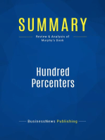 Hundred Percenters (Review and Analysis of Murphy's Book)