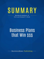 Business Plans that Win $$$ (Review and Analysis of Rich and Gumpert's Book)