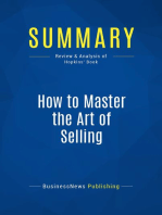 How to Master the Art of Selling (Review and Analysis of Hopkins' Book)