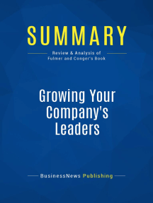 Growing Your Company's Leaders (Review and Analysis of Fulmer and Conger's Book)