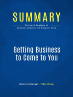 Getting Business to Come to You (Review and Analysis of Edwards, Edwards and Douglas' Book)