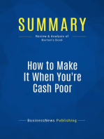 How to Make It When You're Cash Poor (Review and Analysis of Norton's Book)