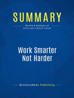 Work Smarter Not Harder (Review and Analysis of Collis and Leboeuf's Book)