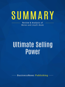 Ultimate Selling Power (Review and Analysis of Moine and Lloyd's Book)