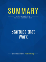 Startups that Work (Review and Analysis of Kurtzman and Rifkin's Book)
