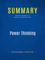 Power Thinking (Review and Analysis of Mangieri and Block's Book)