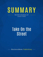 Take On the Street (Review and Analysis of Levitt's Book)
