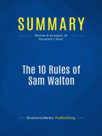 The 10 Rules of Sam Walton (Review and Analysis of Bergdahl's Book)