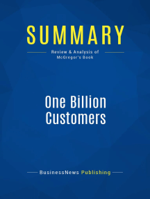 One Billion Customers (Review and Analysis of McGregor's Book)