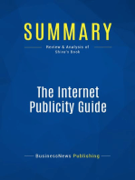 The Internet Publicity Guide (Review and Analysis of Shiva's Book)