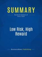 Low Risk, High Reward (Review and Analysis of Reiss' Book)