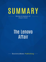 The Lenovo Affair (Review and Analysis of Zhijun's Book)