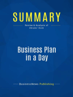 Business Plan in a Day (Review and Analysis of Abrams' Book)