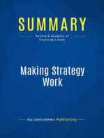 Making Strategy Work (Review and Analysis of Hrebiniak's Book)