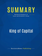 King of Capital (Review and Analysis of Stone and Brewster's Book)
