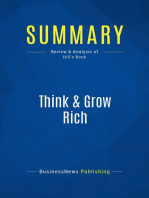 Think & Grow Rich (Review and Analysis of Hill's Book)