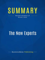 The New Experts (Review and Analysis of Bloom's Book)