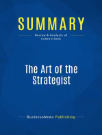The Art of the Strategist (Review and Analysis of Cohen's Book)
