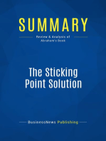 The Sticking Point Solution (Review and Analysis of Abraham's Book)