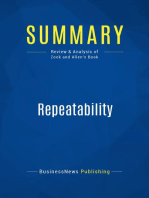 Repeatability (Review and Analysis of Zook and Allen's Book)