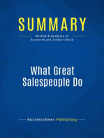 What Great Salespeople Do (Review and Analysis of Bosworth and Zoldan's Book)