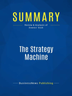 The Strategy Machine (Review and Analysis of Downes' Book)