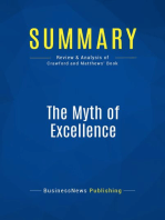 The Myth of Excellence (Review and Analysis of Crawford and Matthews' Book)