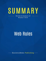 Web Rules (Review and Analysis of Murphy's Book)