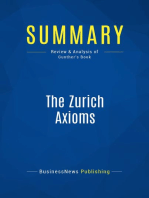 The Zurich Axioms (Review and Analysis of Gunther's Book)