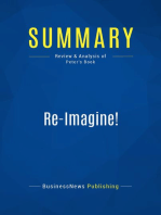 Re-Imagine! (Review and Analysis of Peter's Book)