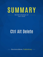 Ctrl Alt Delete (Review and Analysis of Joel's Book)