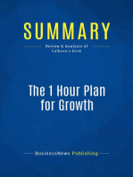 The 1 Hour Plan for Growth (Review and Analysis of Calhoon's Book)