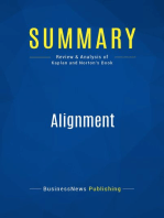 Alignment (Review and Analysis of Kaplan and Norton's Book)